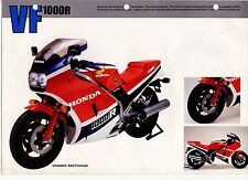 1984 HONDA VF1000RE  1 page A3 Motorcycle Brochure NCS