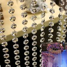 10m/33ft Acrylic Crystal Beads Garland Chandelier Hanging Party Wedding Decor