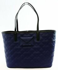 Marc by Marc Jacobs NEW Blue Navy Leather Quilted Mine Tote Bag Purse $298- #033