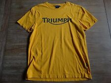 TRIUMPH MOTORCYCLES SOLID MUSTARD 100% COTTON CLASSIC FIT SS T-SHIRT SIZE: M