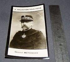 PHOTO IMAGE FELIX POTIN 3ème ALBUM 1920  GENERAL METZINGER MILITAIRE GUERRE
