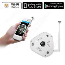 960P WIFI Wireless Fisheye Panorama 360° IP VR Video CCTV Baby Night Camera B0P