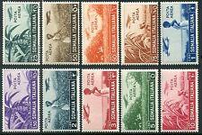 1936 Colonie Somalia soggetti africani serie 10 valori nuovi spl ** MNH