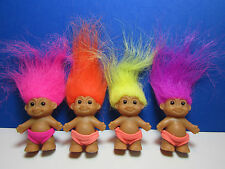 "FOUR BABY BOYS IN SWIMSUITS - 2"" Russ Troll Doll - New - VERY RARE"