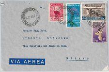 54081 - ITALIA COLONIE: SOMALIA -  BUSTA con bella AFFRANCATURA 1957