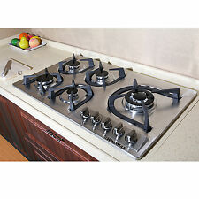 "Hot 34"" Stainless Steel Built-in 5 Burner Stove Gas Hob Cooktop Cooker Cook Tops"