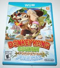 Wii U NINTENDO DONKEY KONG COUNTRY TROPICAL FREEZE SLIGHTLY USED 2014 COMPLETE