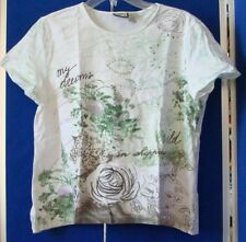 EUC Cute TOP by CARIBBEAN JOE w. Embroidery & little BLING Sz M 100% Cotton