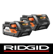 2 RIDGID 18v 18 VOLT LITHIUM 4.0 HIGH CAPACITY BATTERY PACKS BATTERIES R840087