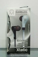 Mental Beats Xtatic High Performance Extra Bass Earbuds With Microphone - Silver