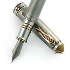 Grayson Tighe Titanium Tighe Two Gold LE Fountain Pen
