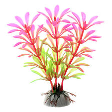 Artifical Grass Aquarium Fish Tank Water Weeds Plants Decoration CX03 Pink R3