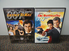 2 DVD Movie LOT (License To Kill / Die Another Day 007 ) GOOD Action Movies