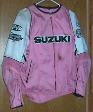 Size XL Women's Joe Rocket Suzuki Armored Motorcycle Racing Coat Jacket Pink MX