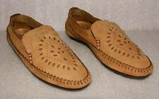 Hush Puppies Brown Suede Leather Aztec Style Moccasin Loafers Women's Size 7