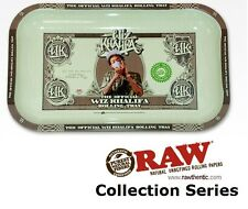 "Wiz Khalifa Metal Rolling Tray 7""x11"" Rare Limited Edition made by RAW Papers"