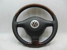 ORIGINAL PASSAT B5 HOLZ WOOD LEATHER LENKRAD STEERING WHEEL VW GOLF 4 IV BORA