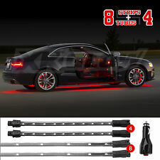 UNIVERSAL 12pc SLIM RED LED UNDERBODY INTERIOR LIGHT KIT ALL CAR TRUCK ATV