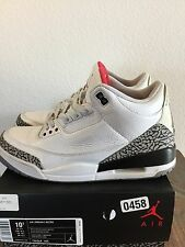 "AIR JORDAN 3 RETRO ""WHITE CEMENT"" 2011 Size 10.5"