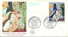 FRANCE FDC - 485 1398 1 CHAGALL MARIES DE LA TOUR EIFFEL PARIS PJ 9 11 1963