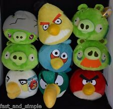 Ultimate Angry Bird Deluxe Plush Set 8in. 9 Birds and Pigs