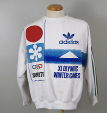Vtg Adidas Sapporo 1972 XI Olympic Winter Games Crew Neck Sweatshirt Mens L/XL