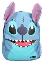 Disney Lilo & Stitch Big Face Teeth Zip Pocket School Book Bag Backpack NWT!