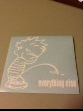piss on eveything else vinyl die cut decal,funny,truck,car,window,ipad