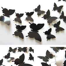 12PC Chic 3D Butterfly Wall Stickers Butterflies Docors Art DIY Decor Nice Paper