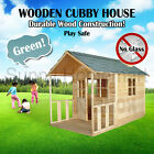 New Outdoor Playhouse Wooden Cubby House + Windows Verandah