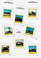 Equatorial Guinea (146) 1977 RAILWAY LOCOMOTIVES set of 8 Prppf cards