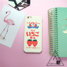 Cute Japanese Strawberry Milk Matte Hard Case Cover For iPhone 5 6 6S 7 Plus