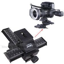 4-way Makro Kreuzschlitten Stativ Kugelköpf f Canon Pentax Kamera+Objektiv+Blitz