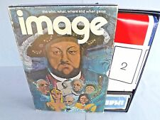 """""""IMAGE""""-A-BOOK SHELF- BOARD GAME, VINTG-1972, THE WHO-WHAT-WHERE+WHEN GAME,100%"""