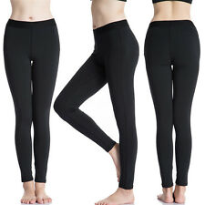 Warm Black Leggings Stretchable One Size Fits All Women Girls 12+ Leggins Winter
