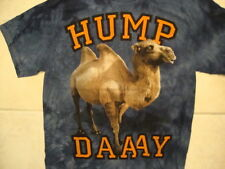"The Mountain ""Hump Daaay"" Camel Funny Quote Dark Blue T Shirt L"
