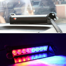 Car Truck Police Strobe Flash Light Dash Emergency 3 Flashing Mode Red/Blue