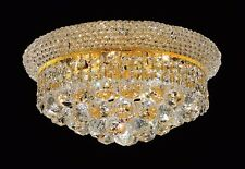 Modern Iron k9 Crystal Palace Chandelier Ceiling Pendant Light Lamp Gold 35X20cm