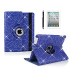 360° Swivel Rotating Bling SPARKLY Leather Case Cover for iPad Air 2 ipad 6