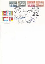 MULTI SIGNED SIX POLITICIANS AUTOGRAPH ON ONE FDC.