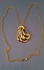 NAPIER Signed Gold Tone Pendant & Necklace