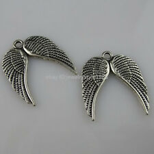 10534 35PCS Vintage Flying Angel Wings Mini Dangle Pendant Jewelry Finding