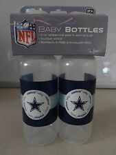NEW Dallas Cowboys 9 oz BABY Bottles 2 Pack NFL Official Merchandise BPA Free