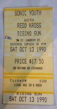 SONIC YOUTH & REDD KROSS-Ticket Stub-Foufounes Electrique-Montreal-Oct 13, 1990