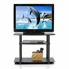 Furinno Turn-N-Tube No Tools 3-Tier TV Stands, Dark Brown/Black 13192DBR/BK NEW