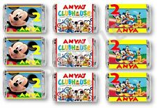 Mickey Mouse Clubhouse Mini Candy Bar Wrappers - Birthday Favors - Set of 84