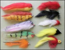 10 Pike Fishing Flies - Mixed Type sizes  2/0 and 1/0 - FREE UK POST