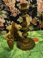 patere ancienne et chandelier bronze