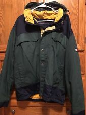 Vintage Tommy Hilfiger Fleece Lined Sailing Yacht Jacket Coat w/Hood Men's XL