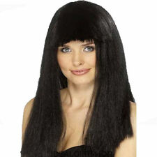Pageboy Wig Black 70's Fringe Wig 70's Wig - Ladies Fancy Dress